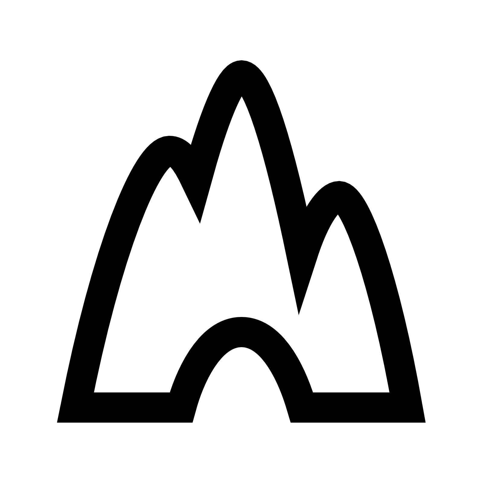 Cave icon flat